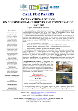 viii konferencja – szkoła - International School on Nonsinusoidal