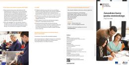 Zawodowe kursy języka niemieckiego – broszura Federalnego