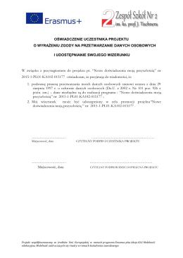 Oświadczenie Erasmus+-1