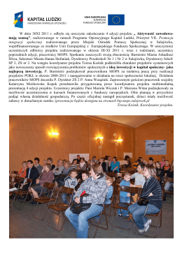 W dniu 30XI 2011 r. odbyło się uroczyste zakończenie 4 edycji