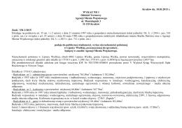 Kraków dn. 10.03.2015 r. WYKAZ NR 1 Oddział Terenowy Agencji