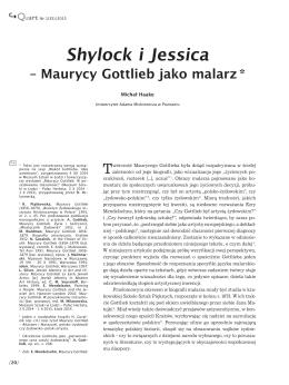Shylock i Jessica – Maurycy Gottlieb jako malarz