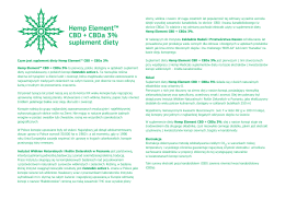 Ulotka o HEMP Element CBD + CBDA 3%