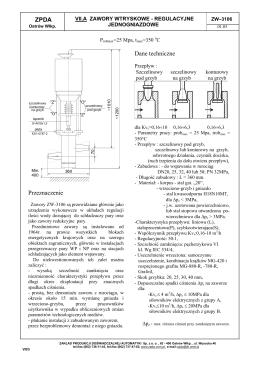 ZPDA Przeznaczenie Dane techniczne