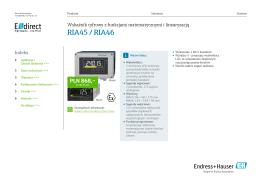RIA45 / RIA46 - Endress+Hauser