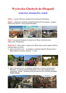 Wycieczka Głuchych do Hiszpanii