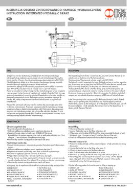 Zintegrowany hamulec hydrauliczny podręcznik PL