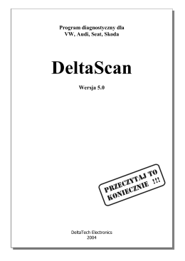 Instrukcja do DeltaScan 5.0