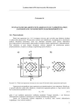 Instrukcja do ćwiczenia nr 16 - Katedra Wytrzymałości Materiałów i