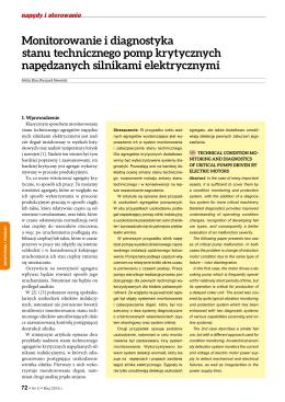 Monitorowanie i diagnostyka stanu technicznego pomp krytycznych