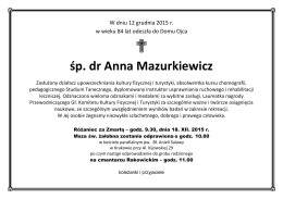 śp. dr Anna Mazurkiewicz