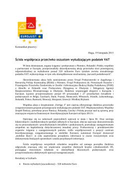 Ścisła współpraca przeciwko oszustom - Eurojust