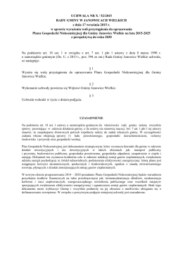 UCHWAŁA NR X / 52/2015 RADY GMINY W JANOWICACH