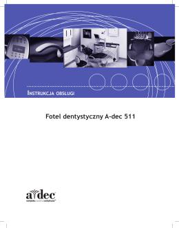 Fotel dentystyczny A-dec 511 — instrukcja obsługi