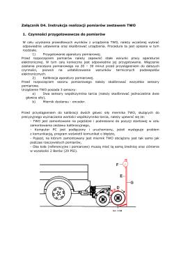 Załącznik D4 Instrukcja realizacji pomiarów TWO
