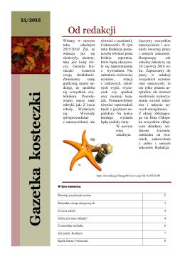 Gazetka szkolna wrzesień 2015 - XXXVIII Liceum Ogólnokształcące