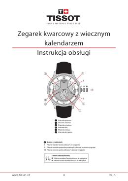 Zegarek kwarcowy z wiecznym kalendarzem Instrukcja obsługi