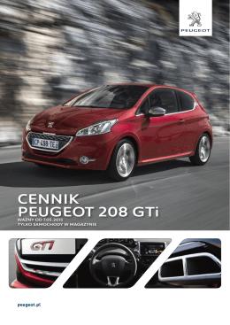CENNIK PEUGEOT 208 GTi