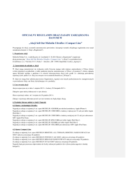 Regulamin akcji - MICHELIN BENEFIT