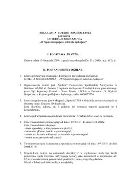 LOTERIA JUBILEUSZOWA