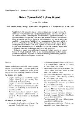 Sinice (Cyanophyta) i glony (Algae)