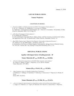 Publications - Instytut Fizyki PAN
