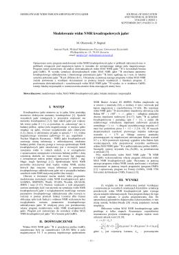 Modelowanie widm NMR kwadrupolowych jąder