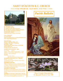 Parish Bulletin - St.Hyacinth RC Church