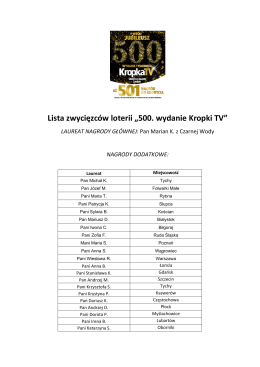 Laureaci - KropkaTV