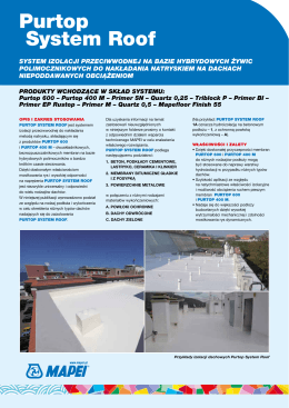 Broszurze Purtop System Roof