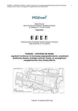 Regulamin konkursu na - SARP Poznan