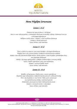 Pobierz przykładowe menu Wigilijne