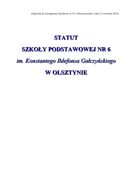 Statut SP 6- 21.09.2015r-jednolity tekst
