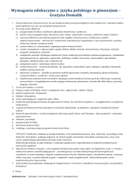 Język polski - Społeczne Gimnazjum nr 3 STO
