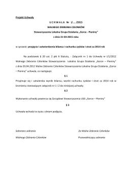WZC_Uchwaly marzec 2015 - Stowarzyszenie GORCE