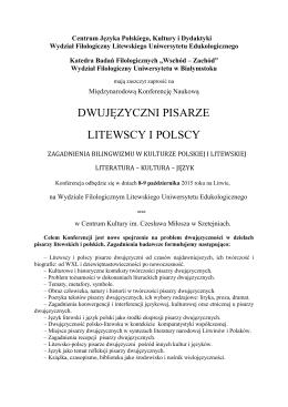 Dwujezyczni pisarze litewscy i polscy
