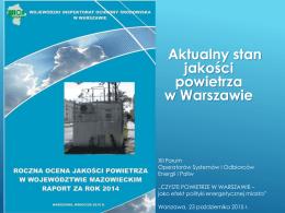 Aktualny stan jakości powietrza w Warszawie