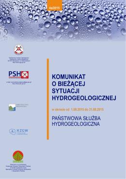 Pobierz komunikat Komunikat - Państwowa Służba Hydrogeologiczna