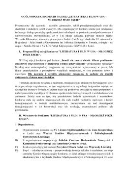 Ogólnopolski Kunkurs na Esej