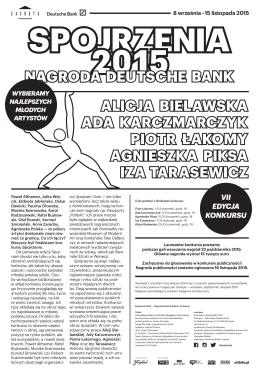 Spojrzenia 2015 - Iza Tarasewicz