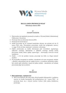 Promocje - Wyższa Szkoła Administracji Publicznej w Szczecinie
