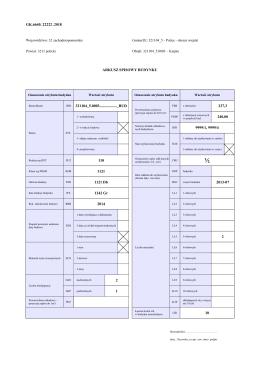 Arkusza danych ewidencyjnych budynku
