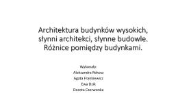 Architektura budynków wysokich