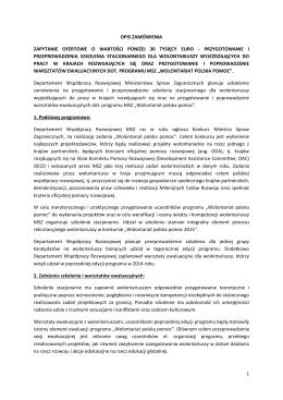 załączniku - Polska pomoc