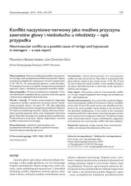 pełna wersja PDF - Otorynolaryngologia
