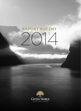 Raport roczny Getin Noble Bank za 2014 rok