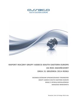 Grupa Asseco SEE - Raport roczny (skonsolidowany)