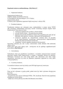 regulamin konkursu - Zespół Szkół Elektrycznych w Kielcach