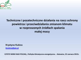 dr inż. Krystyna Kubica - Ekspert PIE ds. ochrony powietrza