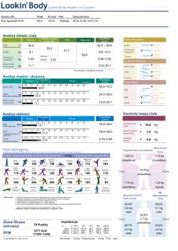 InBody Analiza składu ciała – PDF